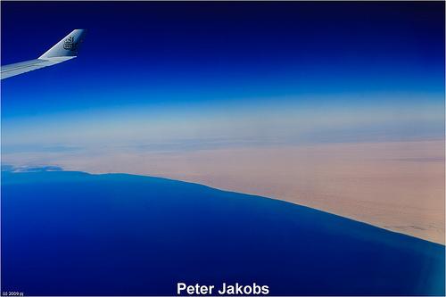 Im Flieger von Dubai nach Auckland